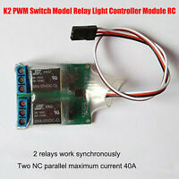 Dual K2 PWM Switch Model Relay Light Controller Module for RC Aircraft Drone New