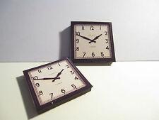 2 DOLLS HOUSE MINIATURE WALL CLOCKS T2