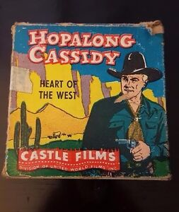 "Castle Films Hopalong Cassidy ""Heart of The West"" 16mm Film w/ Box No. 563"