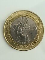 Brasilien 1 Real 1998 Human Rights Commemorative Coin UNC - Brazil Scarce