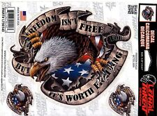 FREEDOM EAGLE DECAL(LT90140) 3 DECALS IN ALL