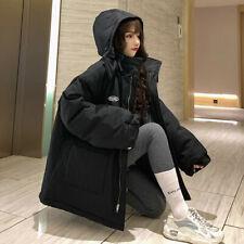 Winter Outdoor Warm Thicken Korean Loose Womens Hooded Coat Down Cotton Jacket