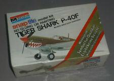 Monogram snap-tite Flugzeug Tiger Shark P-40F 1/64  in OVP 7577 1970er Box MISB