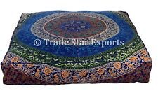 Large Mandala Box Floor Cushion Cover Decorative Cotton Square Throw Pillow Case