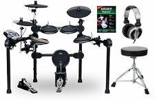 Digital E-Drum Set Schlagzeug Drumkit Rack Fussmaschine Hocker Kopfhörer USB