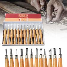 12Pcs Professional Wood Carving Chisel Tools Set Woodwork Sharpening Carpenter