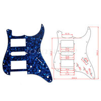 Guitar Pickguard For Fender Strat Style Guitar Parts HSH Blue Pearl 3 Ply