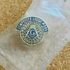 Masonic Gold & Blue Tie Tack Composite Lodge #595 CA Now Defunct NOS Masons