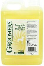 2 X Groomers Banana and Mango Dog Shampoo 2.5L