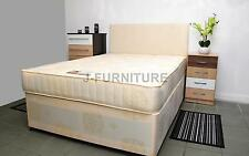 "4ft6 Double Divan Bed+Luxury Orthopaedic Firm10""Mattress+Sliding Doors+Headboard"