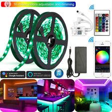 10M RGB 5050 SMD LED Stripe Leiste Streifen Band WiFi Alexa APP Controller Trafo