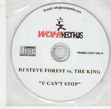 (HB619) DJ Steve Forest vs. The King, U Can't Stop - DJ CD
