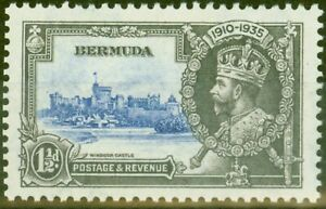Bermuda 1935 1 1/2d Ultramarine & Grey SG95m Bird by Turret V.F Very Lightly