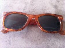 Lunette femme solaire vintage monture plastique marron orange marbré