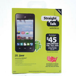 ZTE Zephyr Z752C 4GB Black Straight Talk Wireless Android Smartphone New