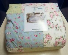 SIMPLY SHABBY CHIC Patchwork Floral Ruffled Quilt Full/Queen NEW