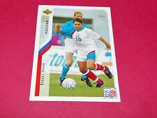 SERGEI JURAN RUSSIE FIFA WC FOOTBALL CARD UPPER USA 94 PANINI 1994 WM94