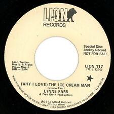 "LYNNE FARR promo 45:  ""(Why I Love) The Ice Cream Man / High Flyer""  1972  VG+"