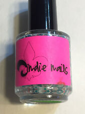 NEW JINDIE NAILS NAIL POLISH SNOW ANGELS BLUE PINK GLITTER LACQUER INDIE