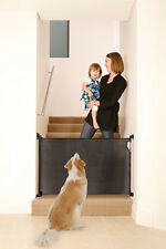 NEW DREAMBABY RETRACTABLE GATE BLACK TODDLER childproof mesh child safety pet