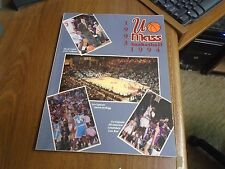 1993-94 University Of Massachusetts Basketball Media Guide Calipari Coach