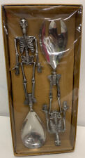 Pottery Barn Tabletop Skeleton Servers 2-Piece (Set NEW in box ) - Halloween