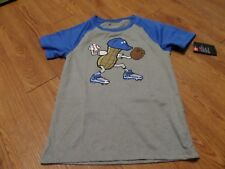 bnwt-boys short sleeve under armour shirt -size 6-gray-mr. peanut-baseball