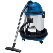 Draper Wet and Dry Vacuum Cleaner with Stainless Steel Tank 50L 1400W 230V 48499