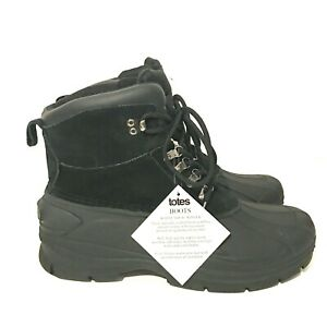 Totes Winter Snow Rain Black Boots Soft High Quality Mens Size 13 3M Thinsulate