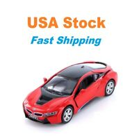 BMW i8, Kinsmart, Green/Red/Yellow/Purple, Diecast Model Toy Car,5'', 1:36 Scale
