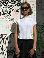 Antik Damen Bluse weiß mit Spitze 30er True VINTAGE 40´s women blouse shirt lace