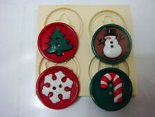 Sugarcraft Mold Mould  for sugarcake,Cupcake, Clay- Christmas #3