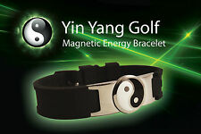 Yin Yang Golf magnetic energy bracelet bio power disc ball marker sport health b