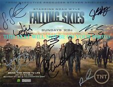 FALLING SKIES CAST SIGNEDAUTOGRAPHED 8x10 RP PHOTO BY 9, NOAH WYLE WILL PATTON +