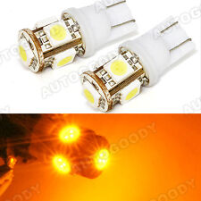 Yellow LED Light Bulbs 5-SMD T10 Wedge Dome Map Door License Plate Trunk Cargo