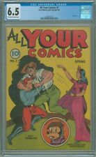 All Your Comics # 1 CGC 6.5 FN+ Fox Features 1946 SCARCE Only Issue