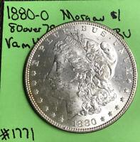 1880-O MORGAN SILVER DOLLAR CH BU/MS, VAM 4 80/79 OVER DATE TOP 100 Rare Coin