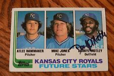 Darryl Motley 1982 Topps Signed Autographed Card # 471 Kansas City Royals!
