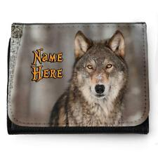 Personalised Mens Wallet WOLF PACK Grandad Dad Father Boys Birthday Gift SH281