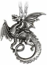 Alchemy Gothic The Whitby Wyrm Dragon Pendant Necklace Pewter P323