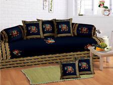 Indian 100% Cotton Jaipuri Diwan Set Diwan Cover Cushion Covers Bolster Covers