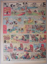 Mickey Mouse Sunday Page by Walt Disney from 12/9/1945 Tabloid Page Size