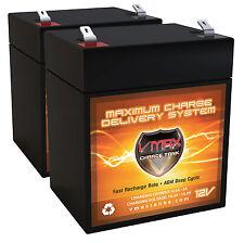 Qty 2 VMAX V06-43 12V 6ah battery upgrade for Razor E175 Electric Scooter set