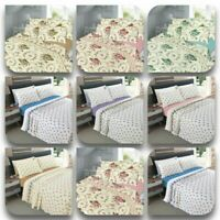 Rose Bud and Olivia Floral Luxury Thermal Brushed Cotton Flannelette Sheet Set