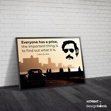 designbomb® Pablo Escobar Everyone Has A Price Spruch Zitat Poster Fotoplakat
