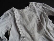 H&M Tolle  weiße Tunika Bluse mit Biesen Gr.86/92