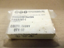 NEW MONO SYSTEMS SMS3207-I BAG OF 10 COVER CLIP COLOR: IVORY