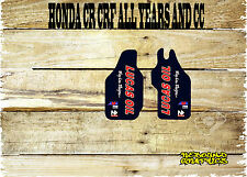 HONDA CRF CR 85 125 150 250 450 LOWER FORKGUARDS STICKER-GRAPHIC-DECAL-TV