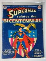 VINTAGE Limited Collectors Edition Superman Salutes the Bicentennial Low Grade