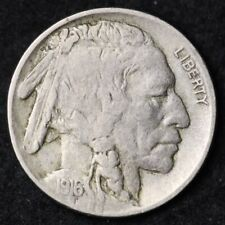 1916 Buffalo Nickel CHOICE VF FREE SHIPPING E206 AE